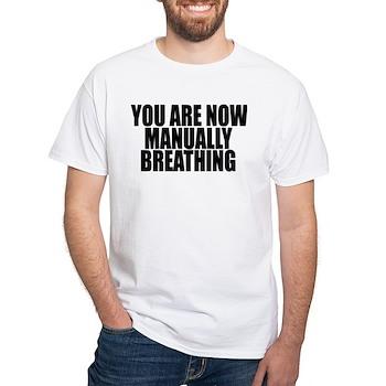 Manually Breathing White T-Shirt