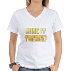Suck it Trebek! Womens V-Neck T-Shirt