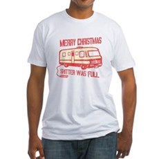Merry X-mas, Shitter Was Full Fitted T-Shirt