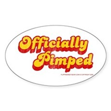 Officially Pimped Oval Sticker