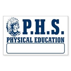 P.H.S. Physical Education Rectangle Sticker