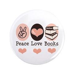 Peace Love Books Book Lover 3.5