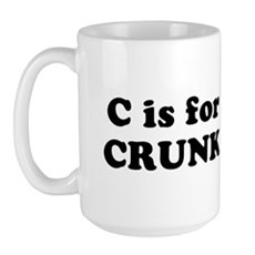 C is for CRUNK Large Mug
