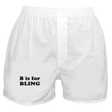 B is for BLING Boxer Shorts