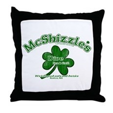 McShizzle's Dive Bar & Grill Throw Pillow
