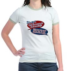 Stuart - What does mama say? Jr Ringer T-Shirt