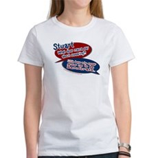 Stuart - What does mama say? Womens T-Shirt