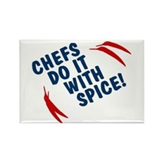 Chefs Do It With Spice Rectangle Magnet