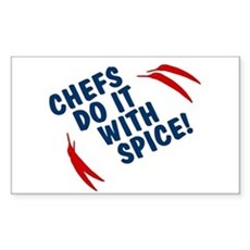 Chefs Do It With Spice Rectangle Sticker