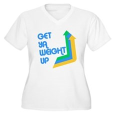 Get Ya Weight Up Plus Size V-Neck Shirt