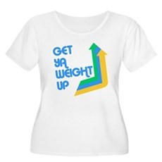 Get Ya Weight Up Womens Plus Size Scoop Neck T-Sh