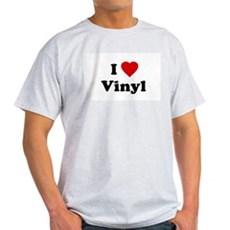 I Love Vinyl Ash Grey T-Shirt