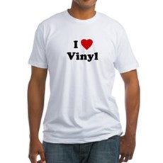 I Love Vinyl Fitted T-Shirt