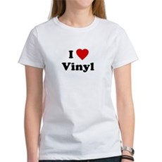 I Love Vinyl Womens T-Shirt