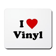 I Love Vinyl Mousepad