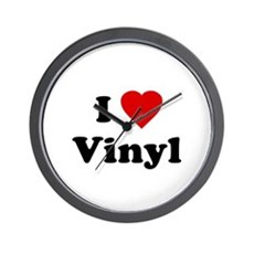 I Love Vinyl Wall Clock