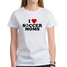 I Love Soccer Moms Womens T-Shirt