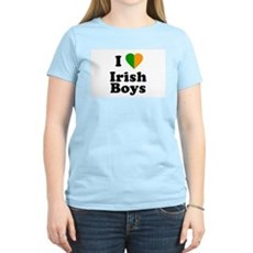 I Love Irish Boys Womens Pink T-Shirt