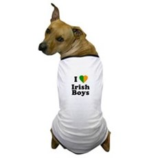I Love Irish Boys Dog T-Shirt
