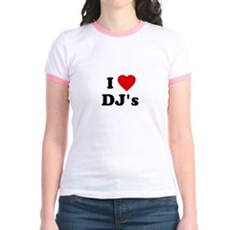 I Love DJ's Jr Ringer T-Shirt
