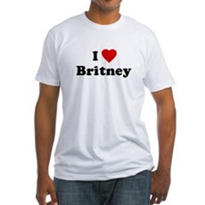 I Love Britney Fitted T-Shirt