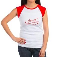 Cox Across America Tour Womens Cap Sleeve T-Shirt