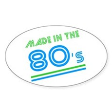 Made in the 80's Oval Sticker
