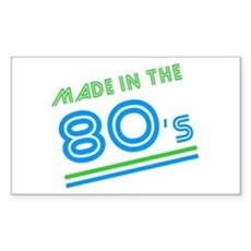 Made in the 80's Rectangle Sticker