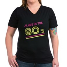 Made in the 80's Womens V-Neck T-Shirt