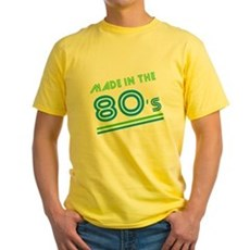 Made in the 80's Yellow T-Shirt