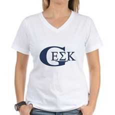 Geek House Fraterntiy (GEK) Womens V-Neck T-Shirt