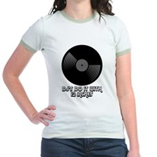 DJ's Do It With 12 Inches Jr Ringer T-Shirt