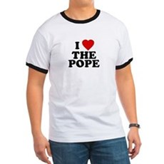 I Love [heart] the Pope Ringer T
