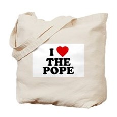 I Love [heart] the Pope Tote Bag