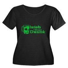 Irish I Were Drunk Womens Plus Size Scoop Neck Da
