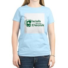 Irish I Were Drunk Womens Light T-Shirt