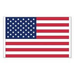 United States Country Flag Rectangle Sticker