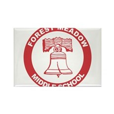 Forest Meadow Middle School Rectangle Magnet