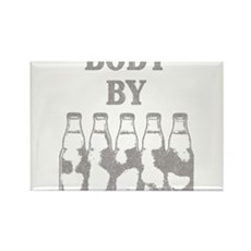 Body By Beer Rectangle Magnet