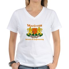 MacGyver Engineering Women's V-Neck T-Shirt