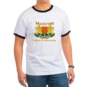 MacGyver Engineering Ringer T | Gifts For A Geek | Geek T-Shirts