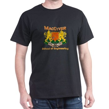 MacGyver Engineering Dark T-Shirt | Gifts For A Geek | Geek T-Shirts