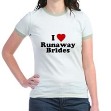 I Love Runaway Brides Jr Ringer T-Shirt