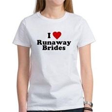 I Love Runaway Brides Womens T-Shirt