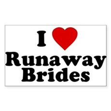 I Love Runaway Brides Rectangle Sticker