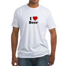I Love [Heart] Beer Fitted T-Shirt