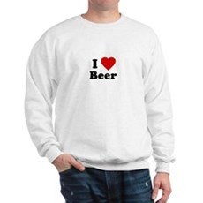 I Love [Heart] Beer Sweatshirt