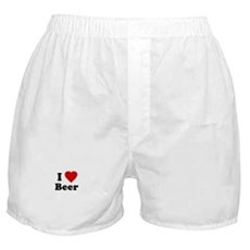 I Love [Heart] Beer Boxer Shorts