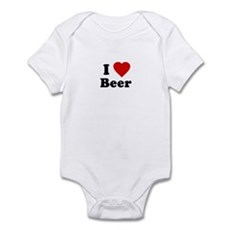 I Love [Heart] Beer Infant Creeper
