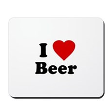 I Love [Heart] Beer Mousepad